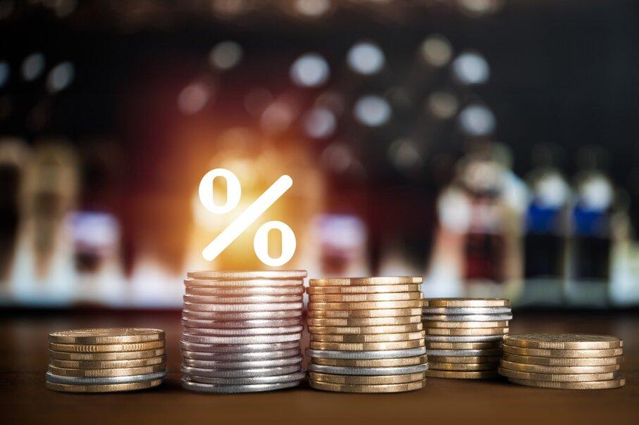 Изменение процентной ставки дебиторской задолженности во Франции